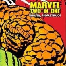 Cómics: MARVEL LIMITED EDITION. MARVEL TWO-IN-ONE: GRITA, MONSTRUO. TOMO PANINI. LA COSA. 4 FANTASTICOS.. Lote 217609965