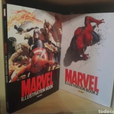 Cómics: MARVEL ILLUSTRATION BOOK 1 Y 2 TOMOS PANINI. Lote 218627556