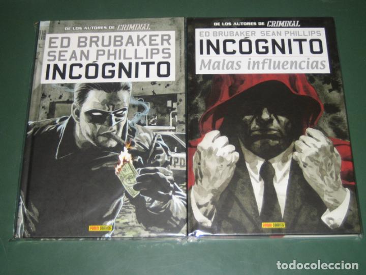 INCÓGNITO #1 Y 2 COMPLETA (PANINI) (Tebeos y Comics - Panini - Otros)