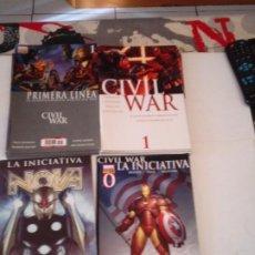 Cómics: CIVIL WAR - COMPLETA - INCLUYE PRIMERA LINEA Y 3 ESPECIALES - - MUY BUEN ESTADO - GORBAUD - CJ 127. Lote 218864167