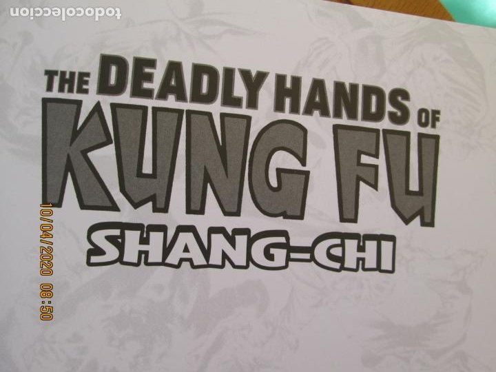 Cómics: THE DEADLY HANDS OF KUNG FU - SHANG- CHI - MARVEL LIMITED EDITIONNº 639 DE 1500 -2019 - Foto 4 - 219820853