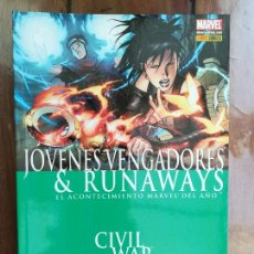 Cómics: JÓVENES VENGADORES & RUNAWAIS. CIVIL WAR. PANINI. Lote 221167895