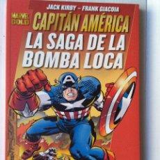 Cómics: MARVEL GOLD CAPITAN AMERICA-LA SAGA DE LA BOMBA LOCA. Lote 221585150