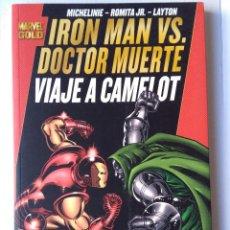 Cómics: MARVEL GOLD IRON MAN VS DR. MUERTE - VIAJE A CAMELOT. Lote 221588060