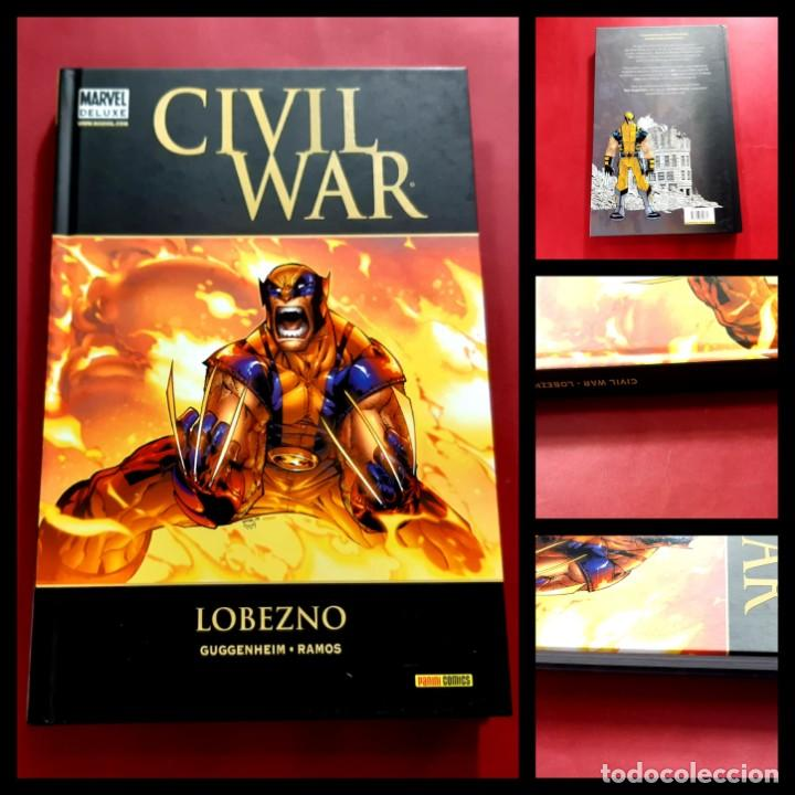 MARVEL DELUXE CIVIL WAR LOBEZNO - PANINI -IMPECABLE ESTADO (Tebeos y Comics - Panini - Marvel Comic)
