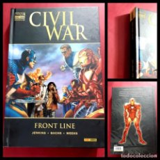 Cómics: CIVIL WAR FRONT LINE TOMO MARVEL DE LUXE -IMPECABLE ESTADO. Lote 221774560