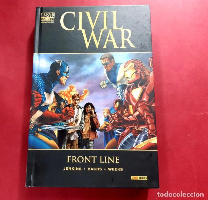 Cómics: CIVIL WAR FRONT LINE TOMO MARVEL DE LUXE -IMPECABLE ESTADO - Foto 2 - 221774560