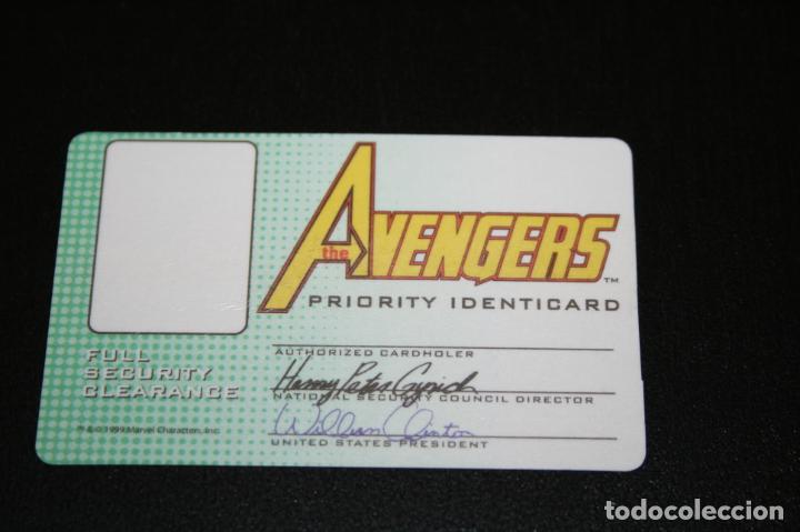 Cómics: Tarjeta - pase de seguridad Los Vengadores The Avengers Priority Identicard level 1 - marvel - raro - Foto 2 - 222060263