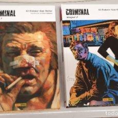 Cómics: CRIMINAL INTEGRAL Nº 1 Y 2 / ED BRUBABER - SEAN PHILLIPS / PANINI COMICS. Lote 222375905
