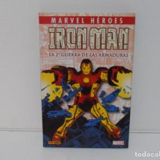 Fumetti: LIBRO, MARVEL HEROES, IRON MAN, LA 2ª GUERRA DE LAS ARMADURAS, PANINI COMICS, NUEVO. Lote 223219800