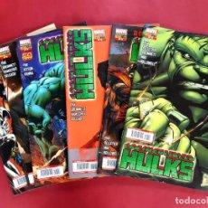 Cómics: LOS INCREÍBLES HULKS - NUMEROS : 2-3-8-9-11-12. Lote 223354428