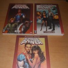 Cómics: SUPREME POWER VOL. 1,2 Y 3. MAX COMICS MARVEL. Lote 223365071