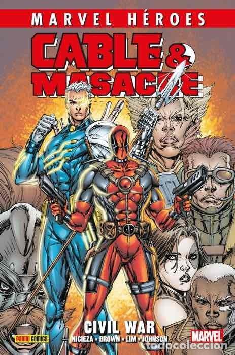 CABLE & MASACRE 2 : CIVIL WAR - PANINI / MARVEL HEROES 97 / TAPA DURA / NUEVO Y PRECINTADO (Tebeos y Comics - Panini - Marvel Comic)