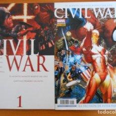Comics: CIVIL WAR Nº 1 Y 2 - MARVEL - PANINI (P). Lote 227958010