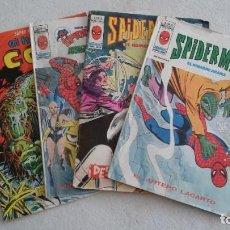 Cómics: SPIDER MAN Y EL HOMBRE COSA LOTE 4 TEBEOS. Lote 234842355
