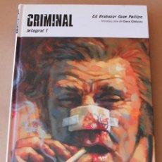 Cómics: CRIMINAL INTEGRAL 1 - PANINI AÑO 2013 - MUY BUEN ESTADO. Lote 235643625
