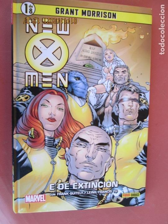 NEW MEN - E DE EXTINCION -GRANT MORRISON MARVEL 1 DE 8 - PANINI COMICS (Tebeos y Comics - Panini - Marvel Comic)