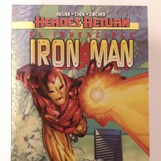 Cómics: HEROES RETURN. EL INVENCIBLE IRON MAN. MIRANDO ADELANTE - PANINI / MARVEL. Lote 236513085
