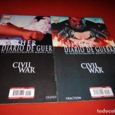Comics: PUNISHER DIRIO DE GUERRA -CIVIL WAR - Nº 1 Y 2 PANINI -. Lote 237157230