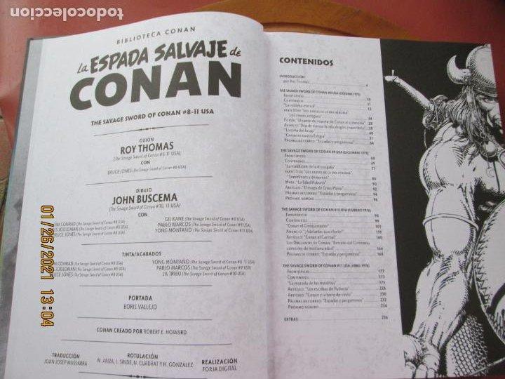 Cómics: LA ESPADA SALVAJE DE CONAN , LA MALDICION DE LA DIOSA GATA Y OTROS RELATOS Nº 4 - MARVEL - PANINI - Foto 3 - 237401240