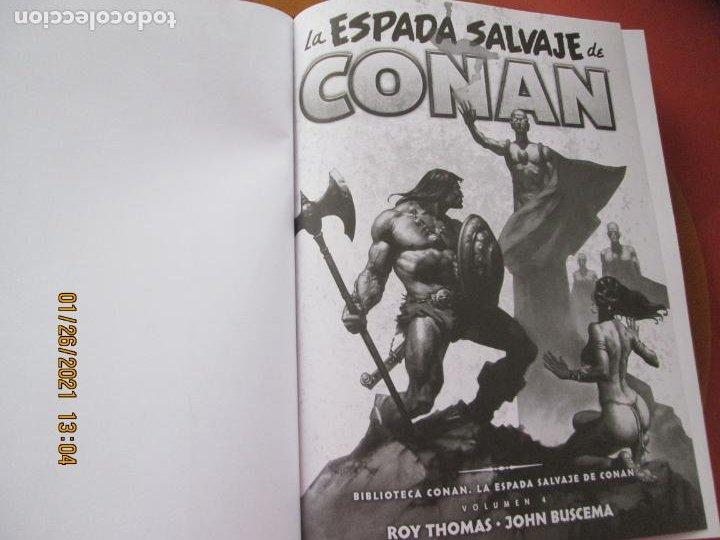 Cómics: LA ESPADA SALVAJE DE CONAN , LA MALDICION DE LA DIOSA GATA Y OTROS RELATOS Nº 4 - MARVEL - PANINI - Foto 4 - 237401240