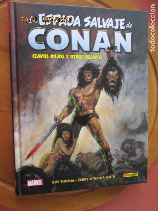 LA ESPADA SALVAJE DE CONAN ,CLAVOS ROJOS Y OTROS RELATOS Nº 1 - MARVEL - PANINI (Tebeos y Comics - Panini - Marvel Comic)