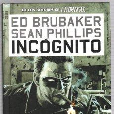 Cómics: ED BRUBAKER. SEAN PHILLIPS. Nº 1. INCOGNITO. PANINI, 2009. Lote 241022450