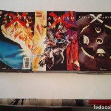 Cómics: TRILOGIA COMPLETA - TIERRA X + UNIVERSO X + PARAISO X - ALEX ROSS - MUY BUEN ESTADO - NUEVAS. Lote 244642980