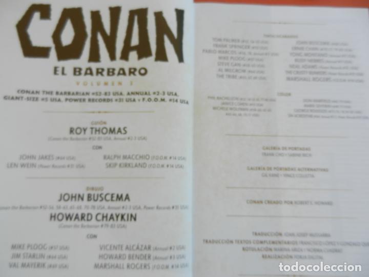 Cómics: CONAN EL BARBARO - VOLUMEN 3 - LA ETAPA MARVEL ORIGINAL - MARVEL OMNIBUS 2018 - NUEVO. - Foto 7 - 247220460