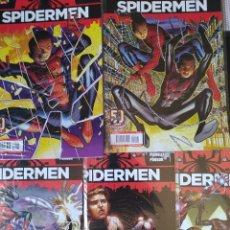 Cómics: SPIDERMEN BENDIS PICHELLI 1ª EDICIÓN PANINI.2012. 5 NUMEROS .COMPLETA-NM-BOLSA. Lote 255945950