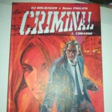 Cómics: CRIMINAL #1 COBARDE. Lote 255979785