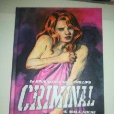 Cómics: CRIMINAL #4 MALA NOCHE. Lote 255979820