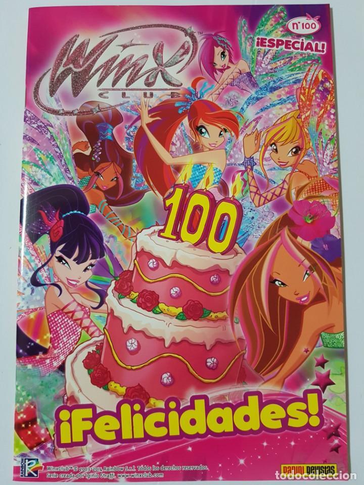 WINX CLUB Nº 100 ESPECIAL CON PÓSTER DOBLE DE REGALO. FORMATO GRAPA. IMPECABLE (Tebeos y Comics - Panini - Otros)