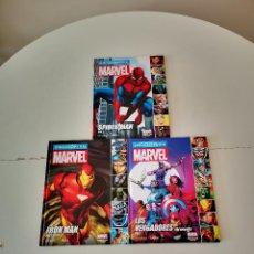 Cómics: 3 COMICS ENCICLOPEDIA MARVEL SPIDER-MAN IRON MAN LOS VENGADORES SIPERMAN BUEN ESTADO. Lote 260861060
