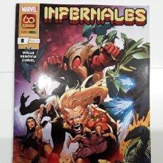 Cómics: INFERNALES 8 (GRAPA) - WELLS, SEGOVIA, CURIEL - PANINI / MARVEL. Lote 261523510