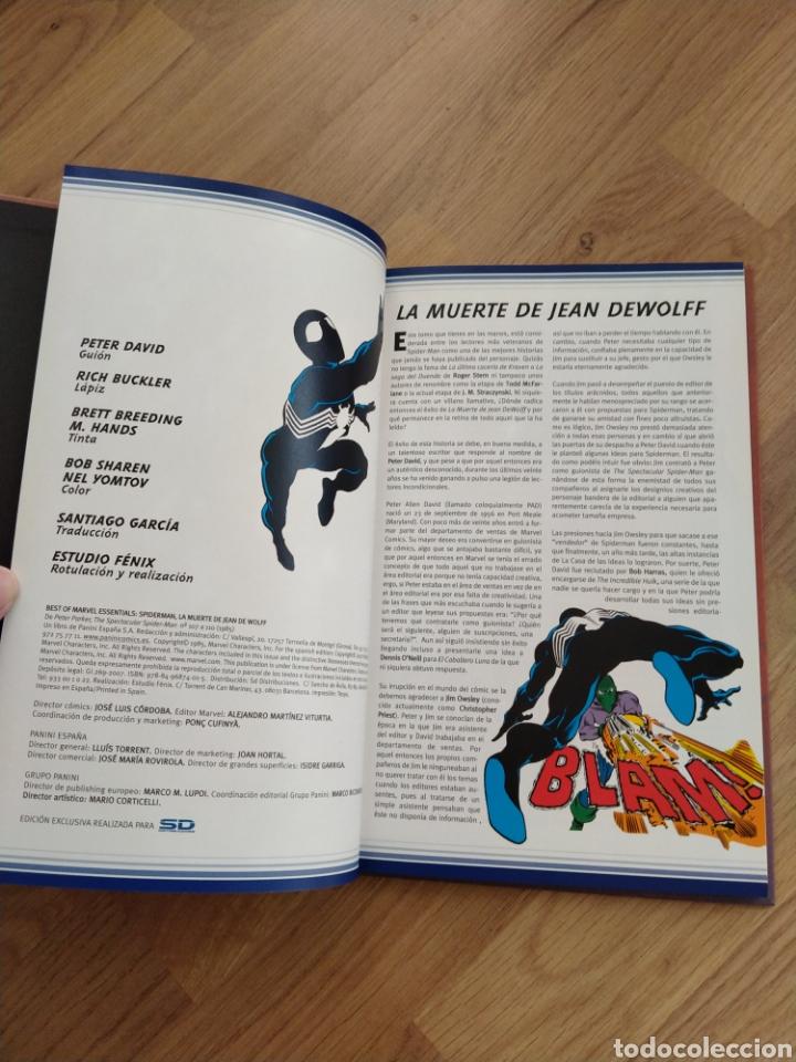 Cómics: Spiderman. La muerte de Jean Dewolff. Peter David. Rich Buckler. - Foto 4 - 262425230