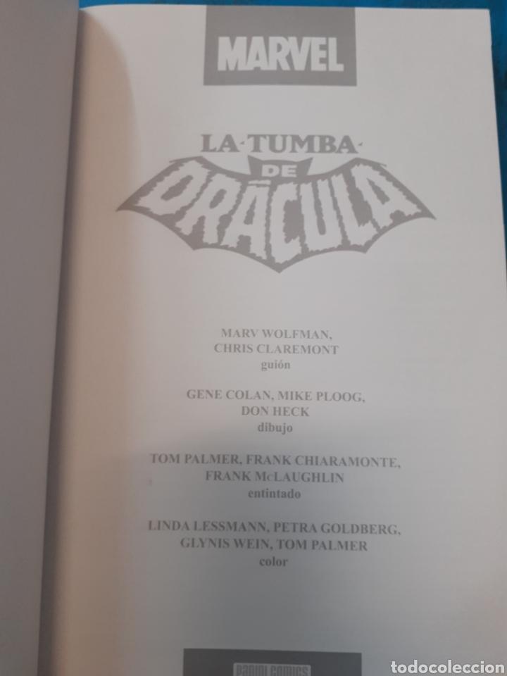 Cómics: LA TUMBA DE DRACULA.CONTRA EL HOMBRE LOBO.MARVEL.Nuevo sin leer. - Foto 3 - 262436670