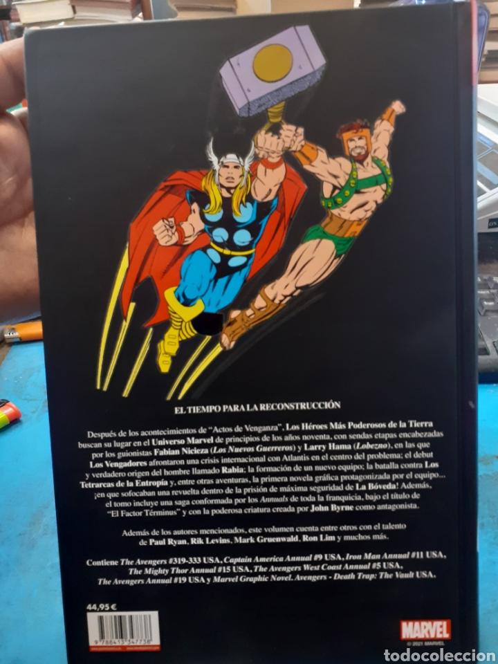 Cómics: LOS VENGADORES.LA LINEA A CRUZAR.MARVEL HEROES.Nuevo sin leer. Tapas duras. - Foto 2 - 262438415