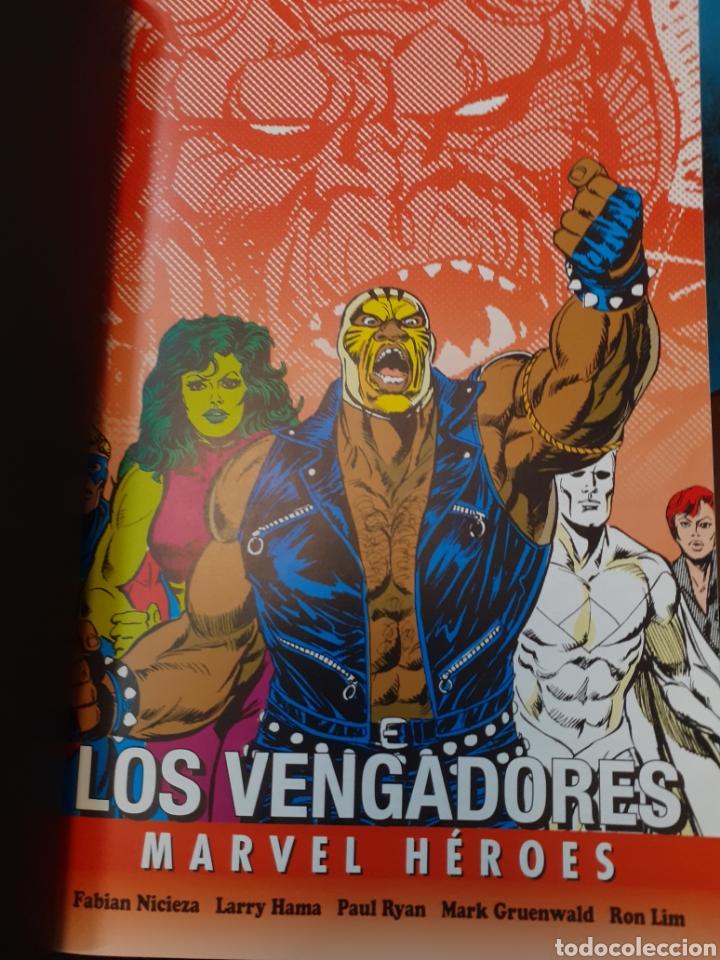 Cómics: LOS VENGADORES.LA LINEA A CRUZAR.MARVEL HEROES.Nuevo sin leer. Tapas duras. - Foto 6 - 262438415