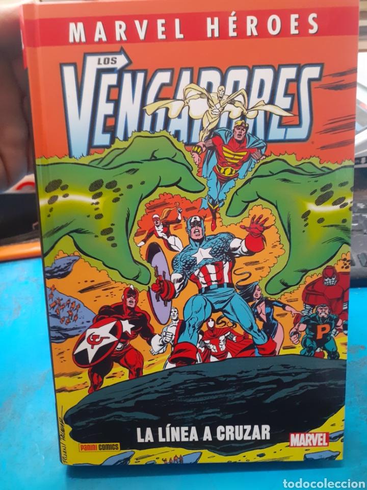 LOS VENGADORES.LA LINEA A CRUZAR.MARVEL HEROES.NUEVO SIN LEER. TAPAS DURAS. (Tebeos y Comics - Panini - Marvel Comic)