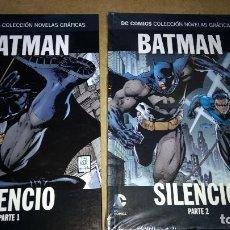 Cómics: BATMAN SILENCIO Nº 1 Y 2 COMPLETA DC CÓMICS COLECCIÓN NOVELAS GRÁFICAS-NUEVO SALVAT. Lote 266580053