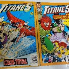 Cómics: LOS NUEVOS TITANES. CAOS TOTAL EDICIONES ZINCO COMPLETA 2 TOMOS -NUEVO. Lote 266594928
