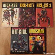 Comics: PACK LOTE KICK ASS 1, 2 Y 3 HIT GIRL, KINGSMAN Y SUPER CROOKS DEL MILLARWORLD. Lote 267751039
