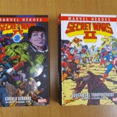 Cómics: MARVEL HEROES 53 Y 54 , SECRET WARS II , ¿QUIÉN ES EL TODOPODEROSO? Y CÍRCULO CERRADO , COMPLETA. Lote 268575019