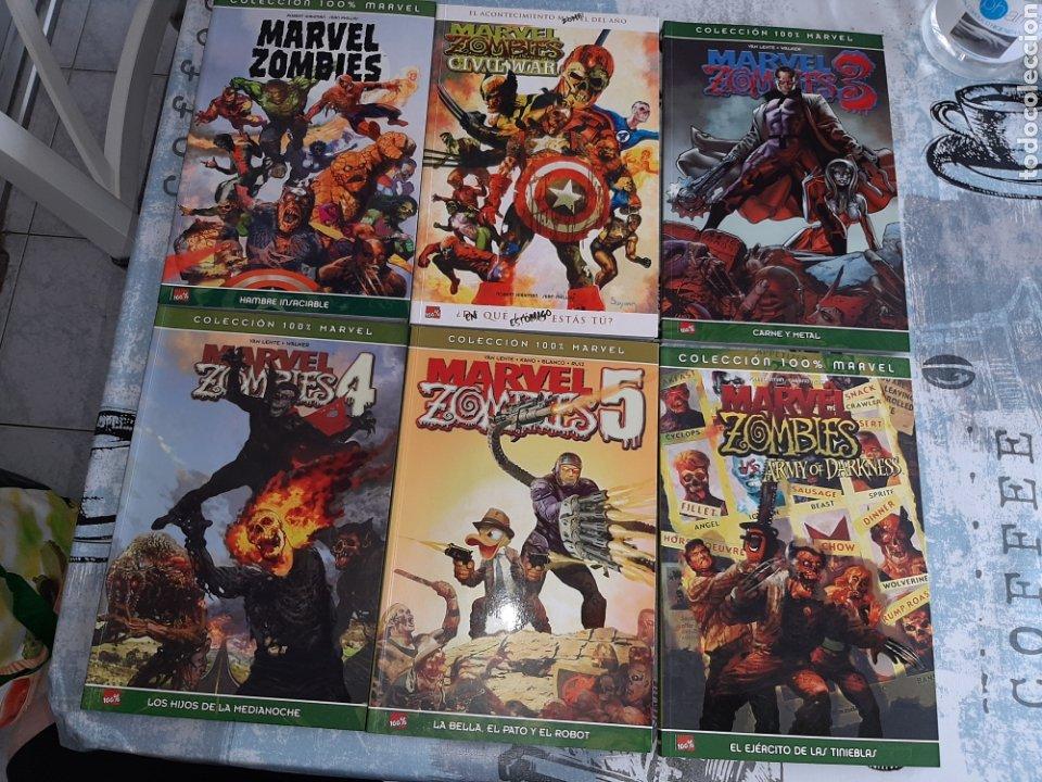 MARVEL ZOMBIES 1 AL 5 MÁS EL EJERCITO DE LAS TINIEBLAS, 100% PANINI (Tebeos y Comics - Panini - Marvel Comic)