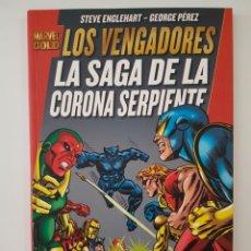 Cómics: MARVEL GOLD LOS VENGADORES - LA SAGA DE LA CORONA SERPIENTE - TOMO PANINI. Lote 269655033