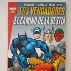 Cómics: MARVEL GOLD LOS VENGADORES - EL CAMINO DE LA BESTIA - TOMO PANINI. Lote 269655063