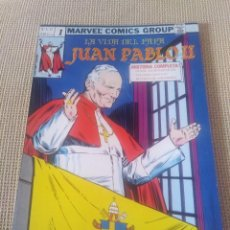 Cómics: CÓMIC MARVEL LA VIDA DEL PAPA JUAN PABLO II. Lote 270124923