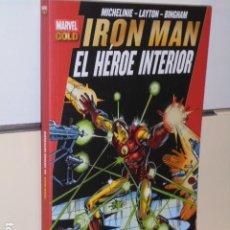 Cómics: MARVEL GOLD IRON MAN EL HEROE INTERIOR - PANINI OFERTA. Lote 270605168