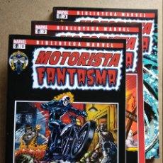 Comics: BIBLIOTECA MARVEL: MOTORISTA FANTASMA 1 A 3 (COMPLETA). Lote 271128793